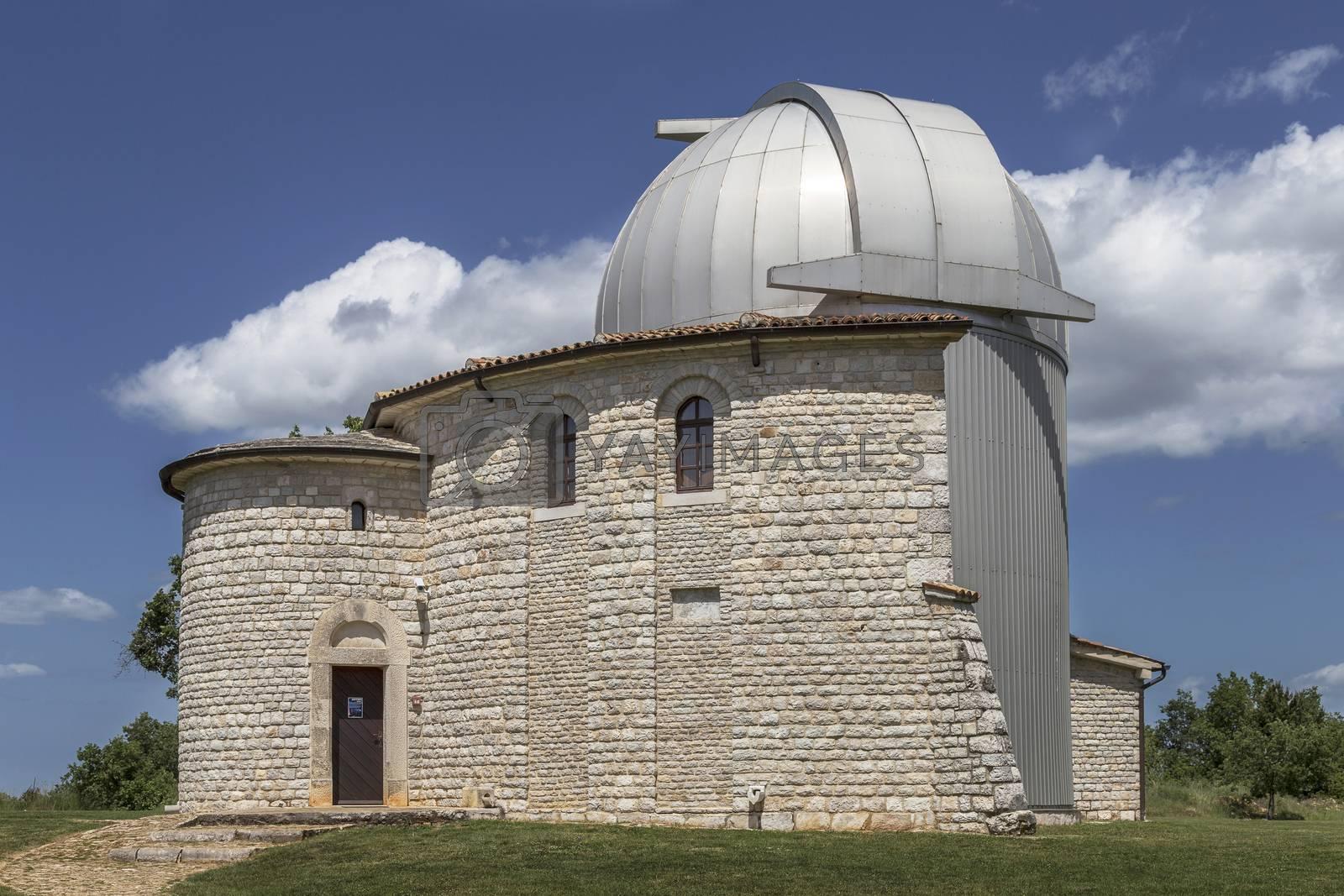 side view of the famous observatory, Tican - Visnjan, Istria, Croatia