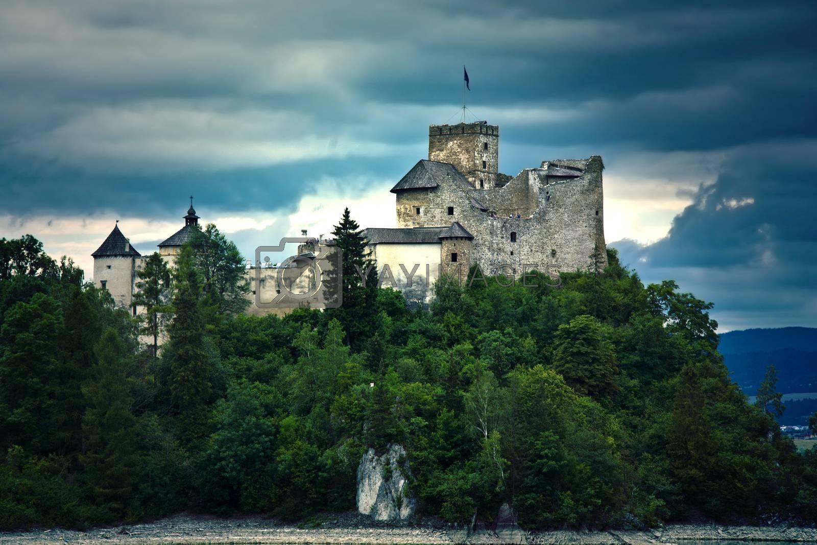 Old castle in the mountians. Castle in Niedzica, Poland.