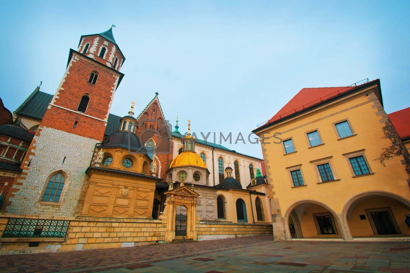 Basilica of Saints Stanislaus and Wenceslaus on Wawel, Cracow, Poland.