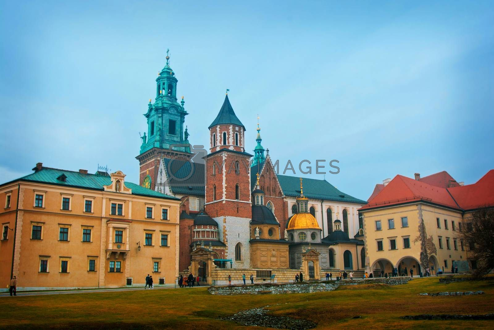 View of Wawel in Cracow, Poland.