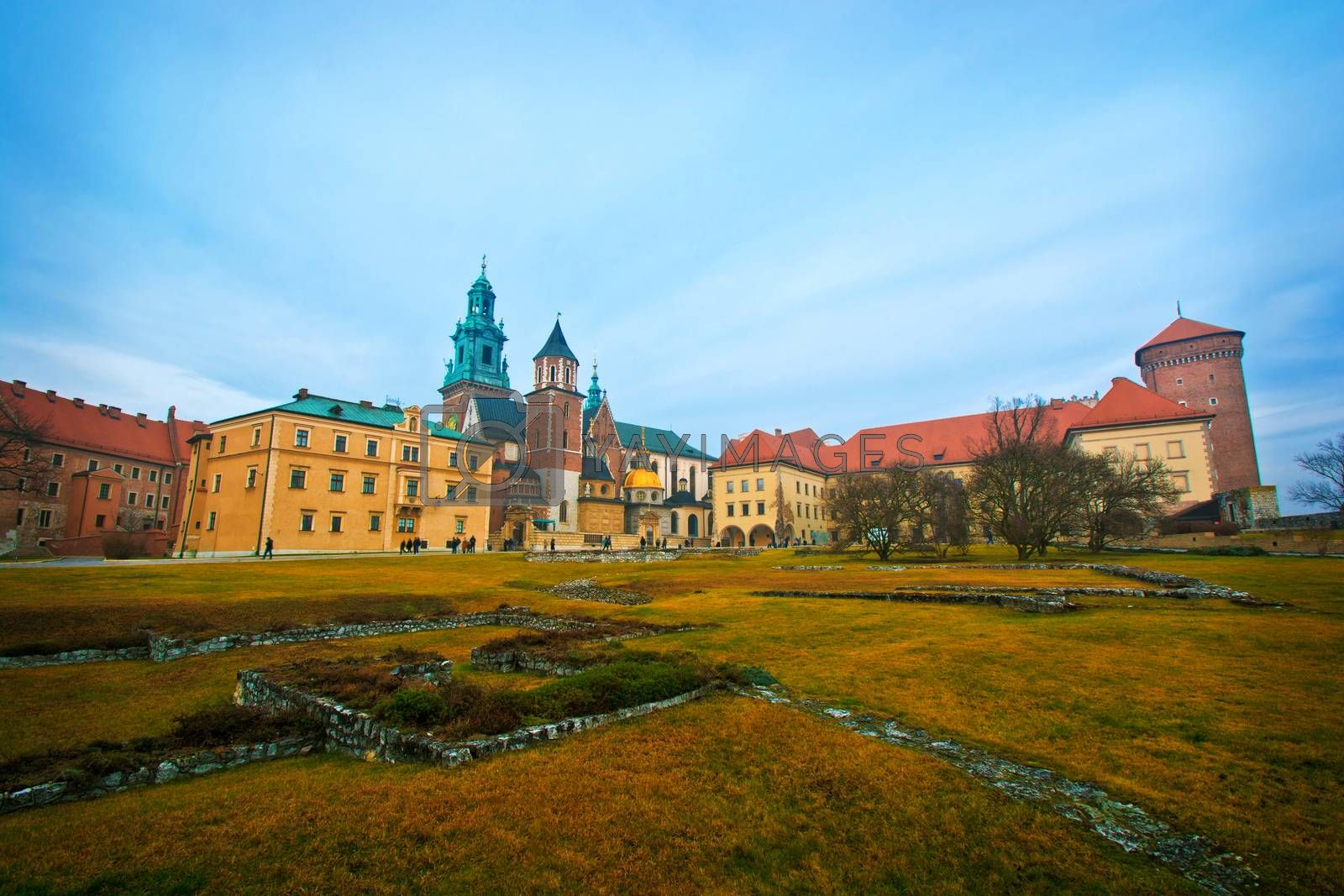 View of Wawel Castle in Cracow, Poland.