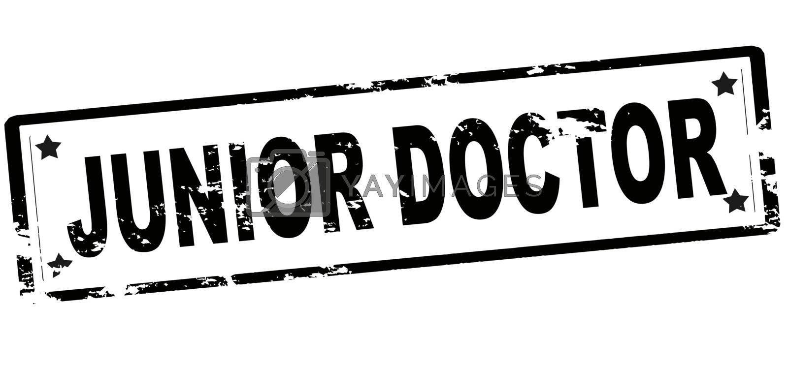 Rubber stamp with text junior doctor inside, vector illustration