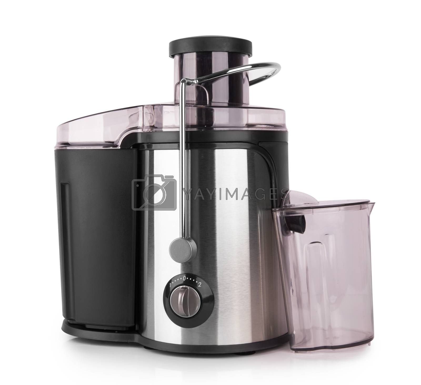 Electric juicer isolated on a white background