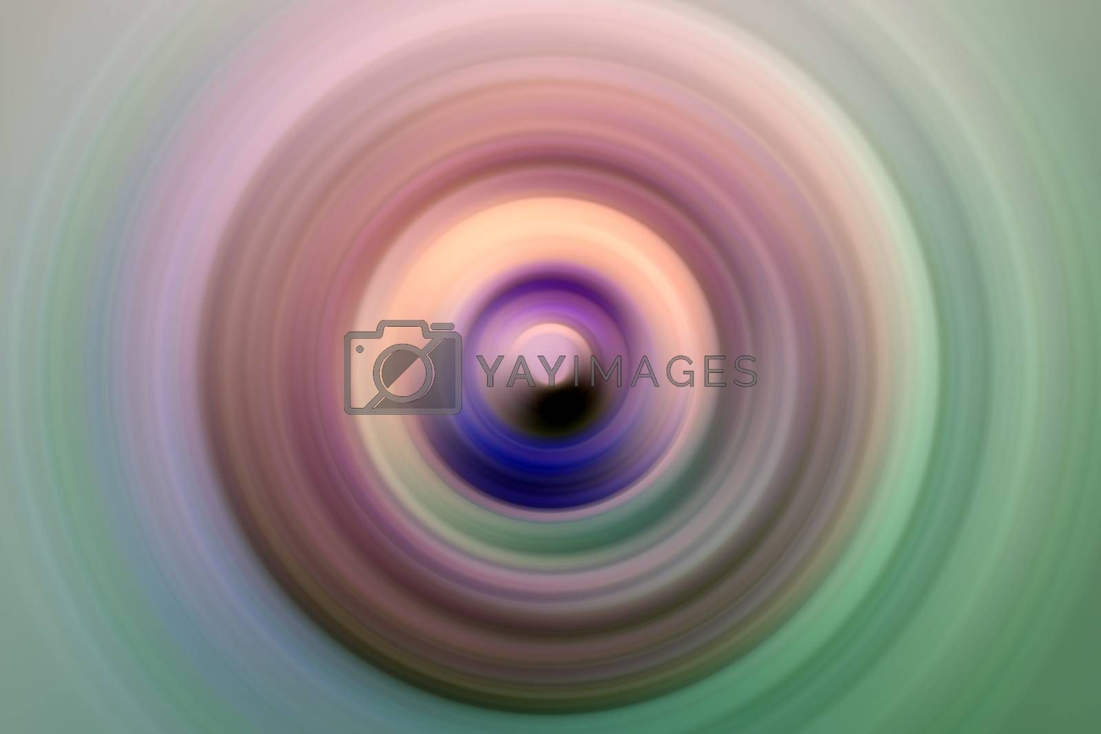 Abstract round background. Circles from the center point. Image of diverging circles. Rotation that creates circles.