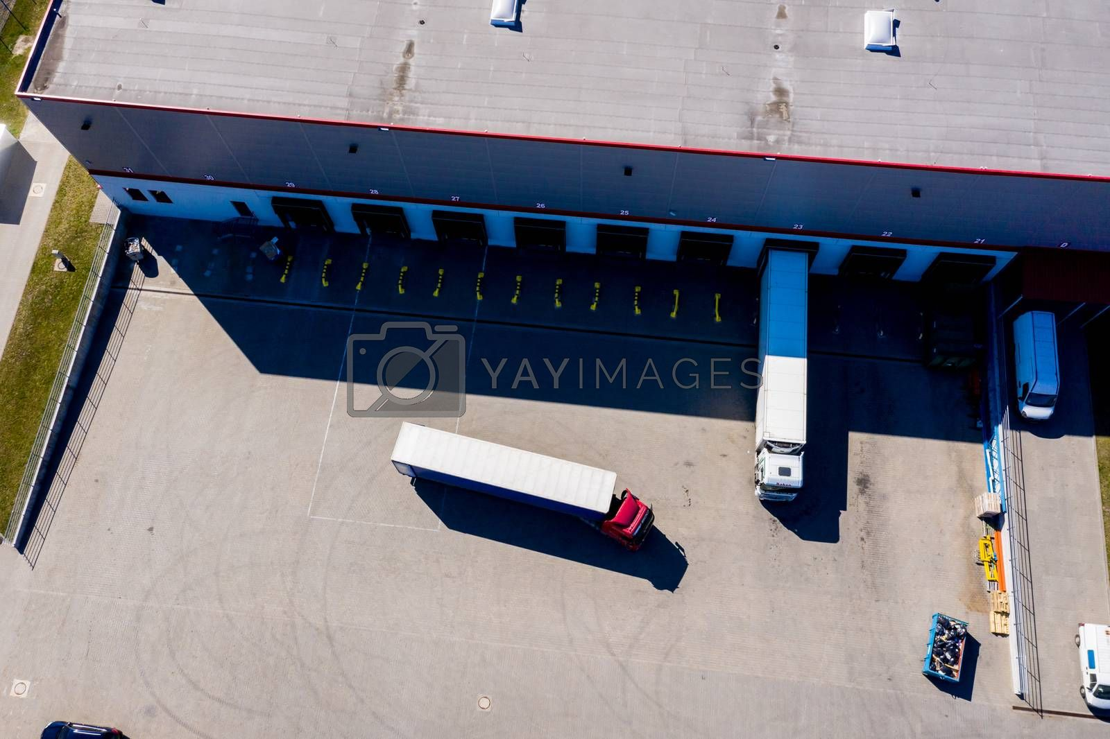 Royalty free image of Distribution logistics buildings and industrial area - aerial vi by jackald