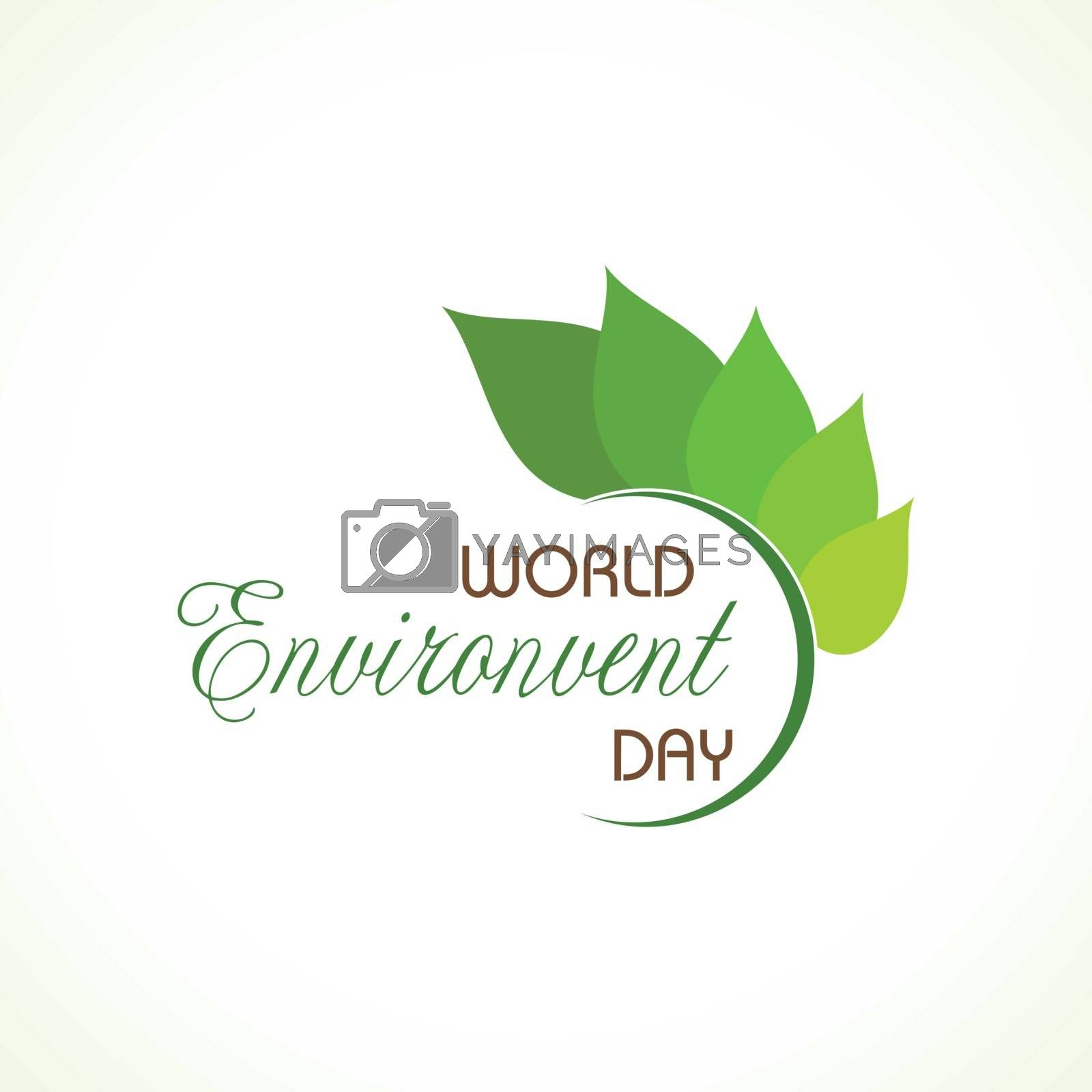 Vector Illustration for World Environment day concept logo design - 5th June World Environment day Awareness Idea Campaign.