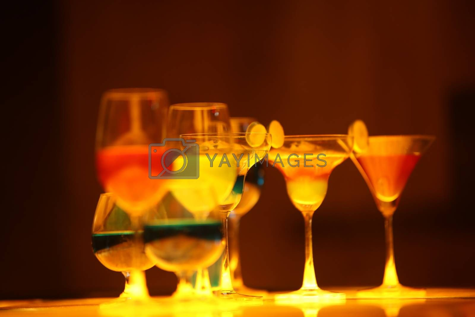 Drink Glass on table