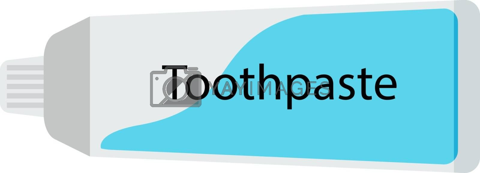 Toothpaste, illustration, vector on white background