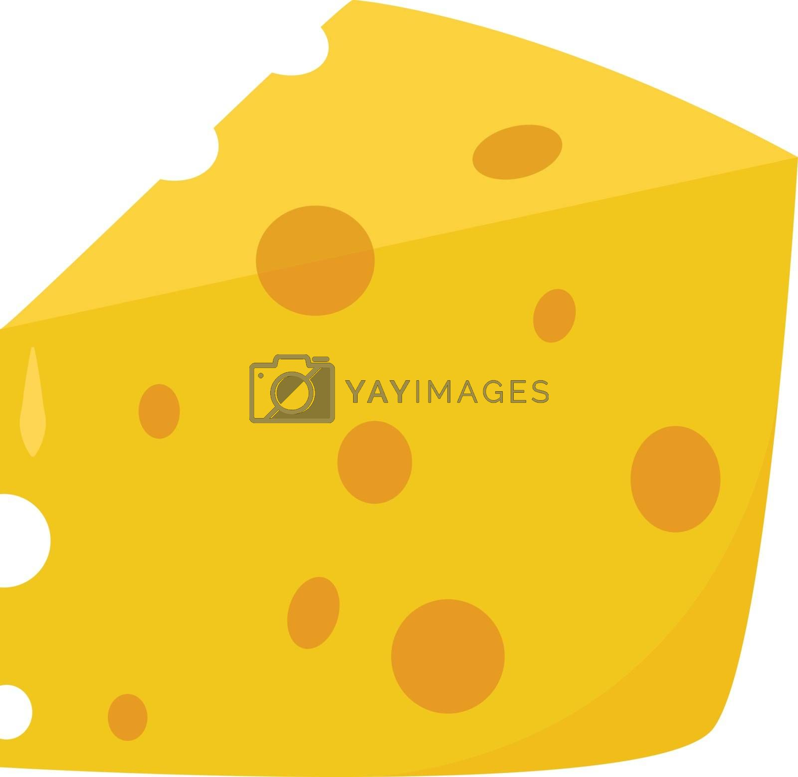 Cheese, illustration, vector on white background. by Morphart