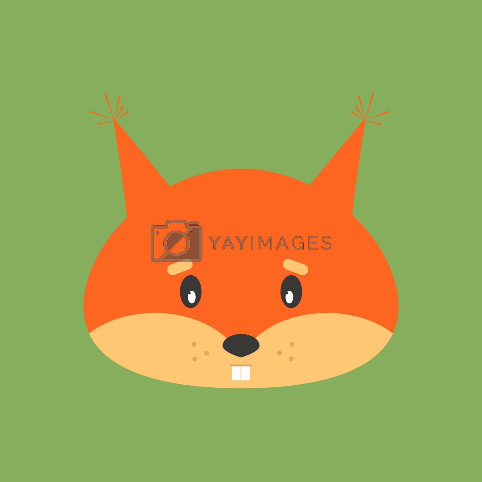 Orange squirrel, illustration, vector on white background.
