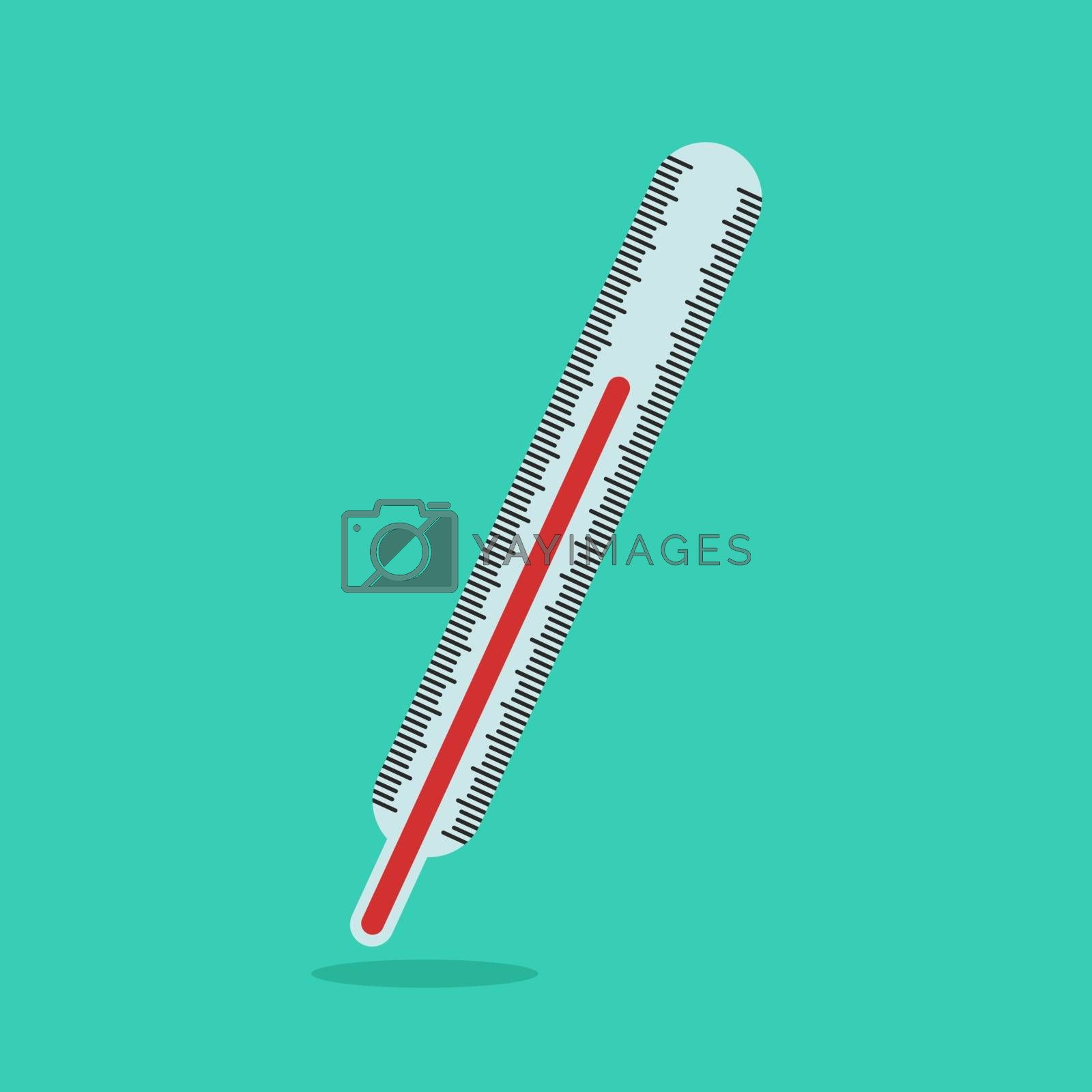 Thermometer, illustration, vector on white background.