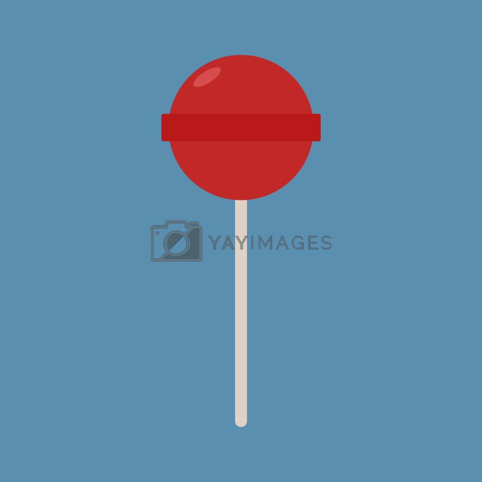 Lollipop, illustration, vector on white background.