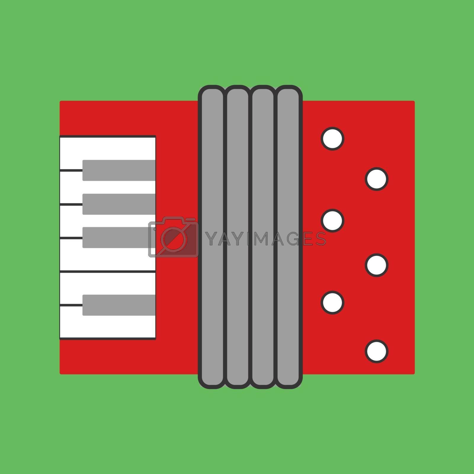 Harmonic, illustration, vector on white background.