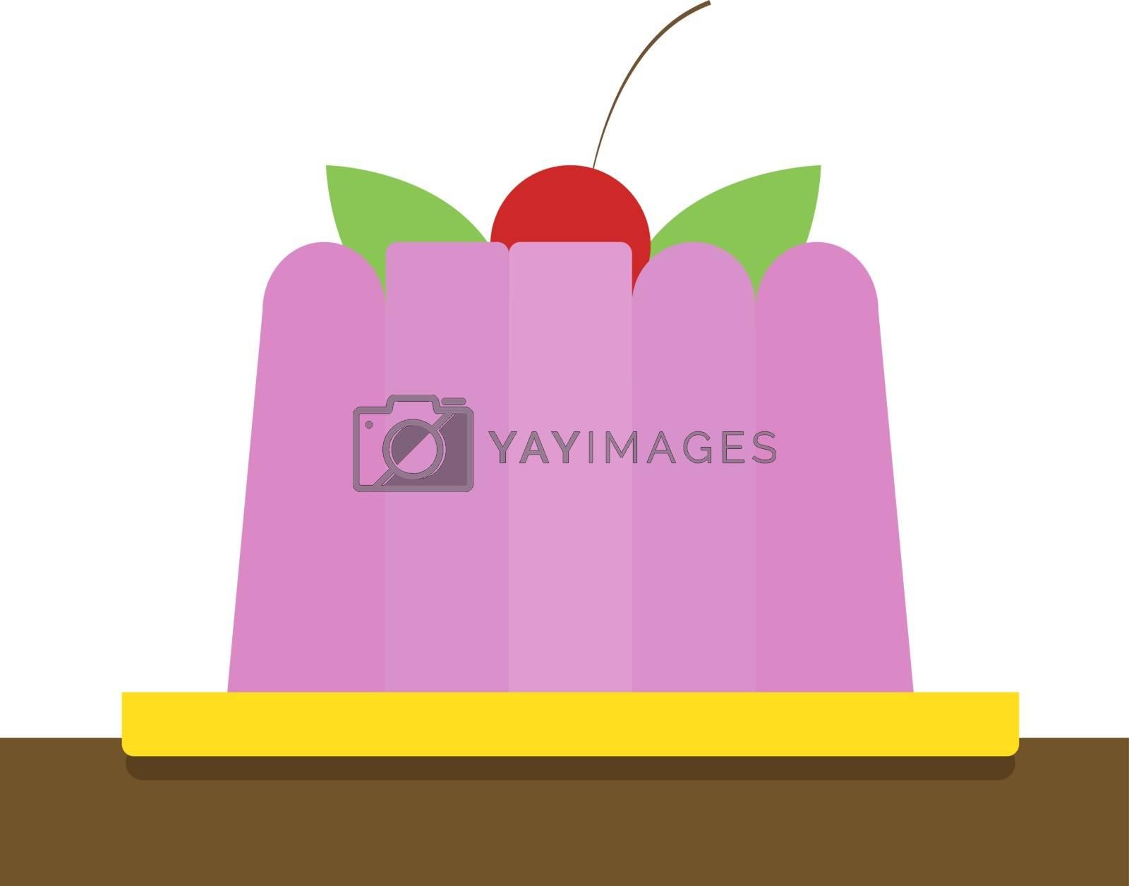 Pudding, illustration, vector on white background.