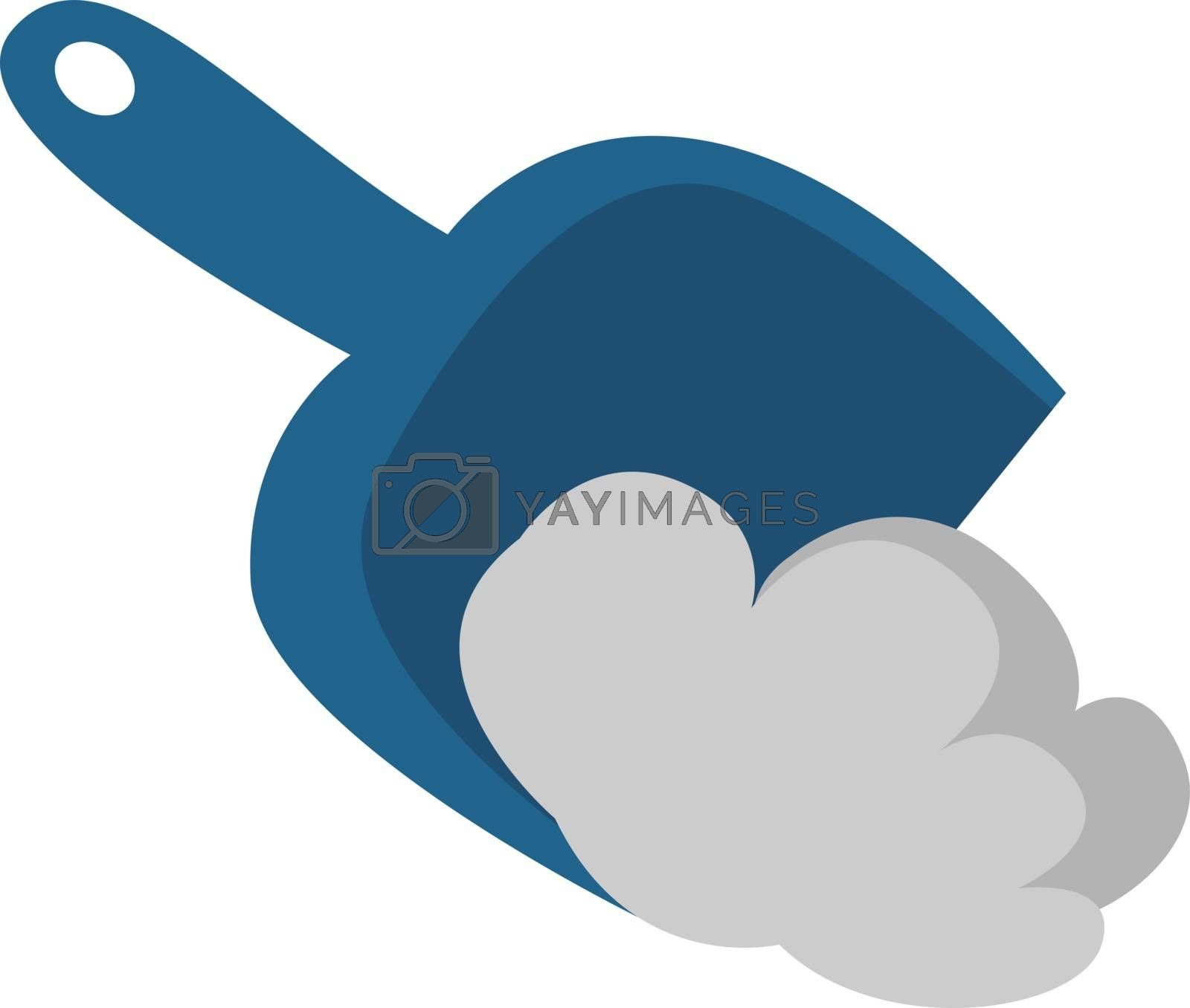 Dustpan, illustration, vector on white background.