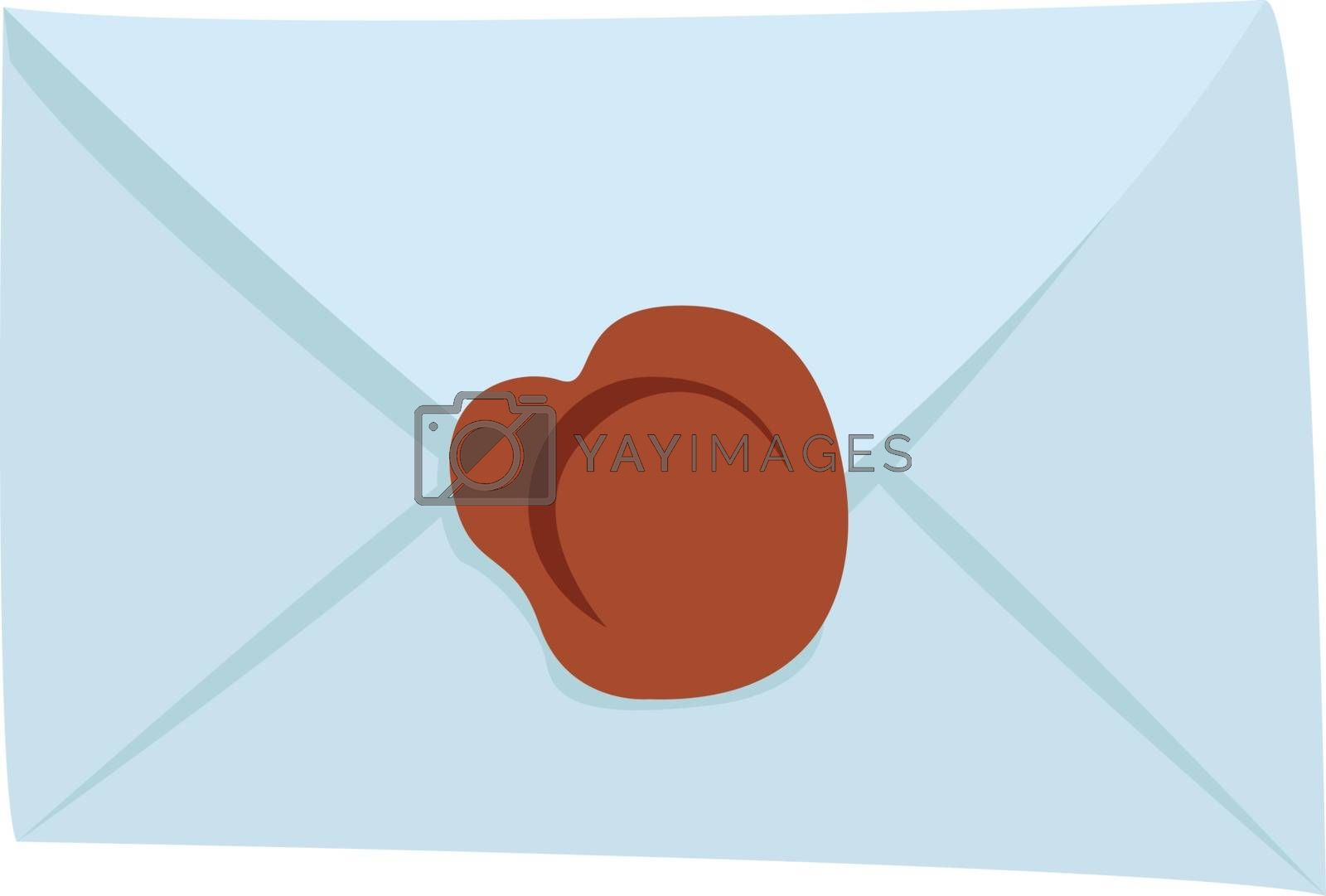 Sealed letter, illustration, vector on white background.