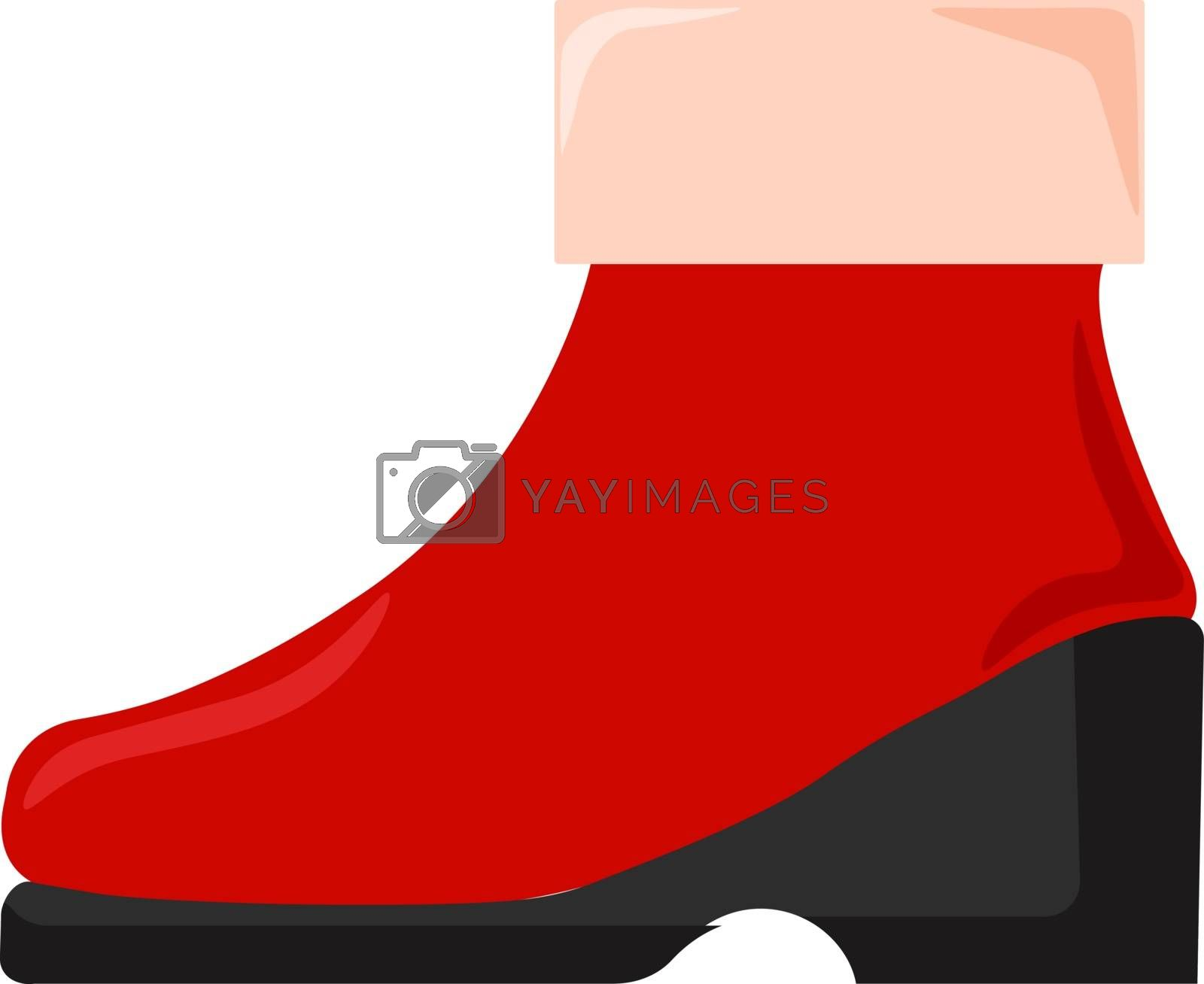 Red shoe, illustration, vector on white background.