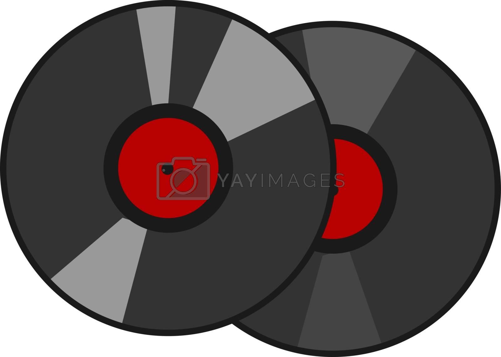 Vinyl, illustration, vector on white background.