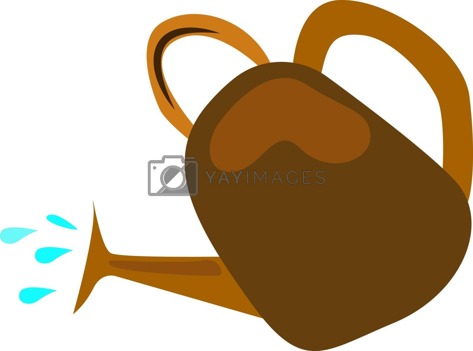 Watering can, illustration, vector on white background.