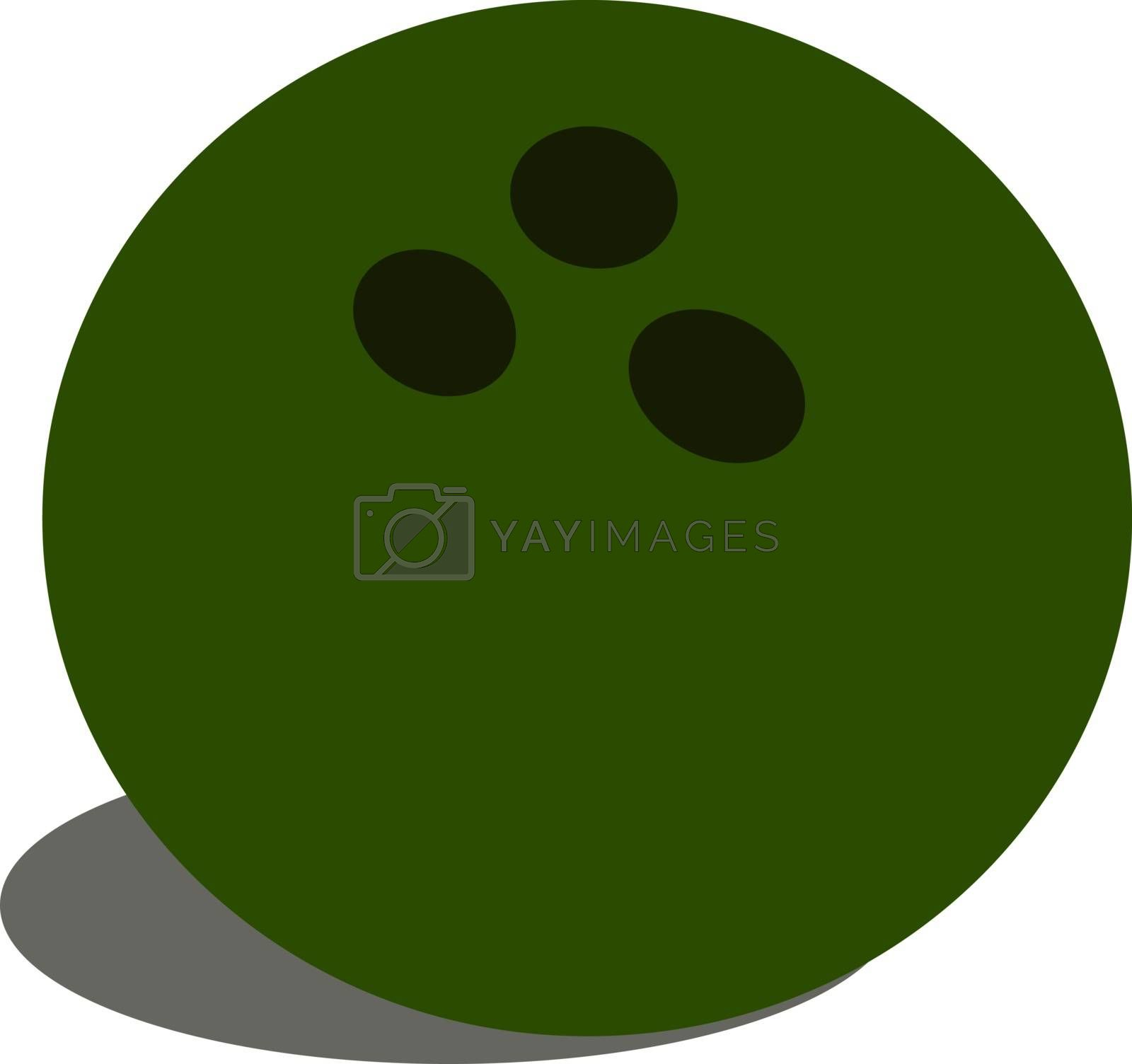 Bowling ball, illustration, vector on white background.