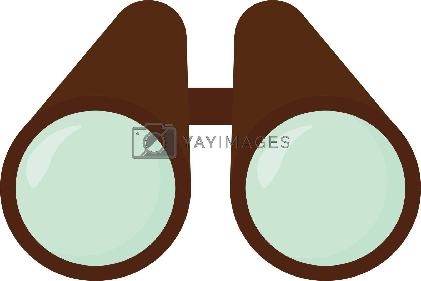 Binoculars, illustration, vector on white background.