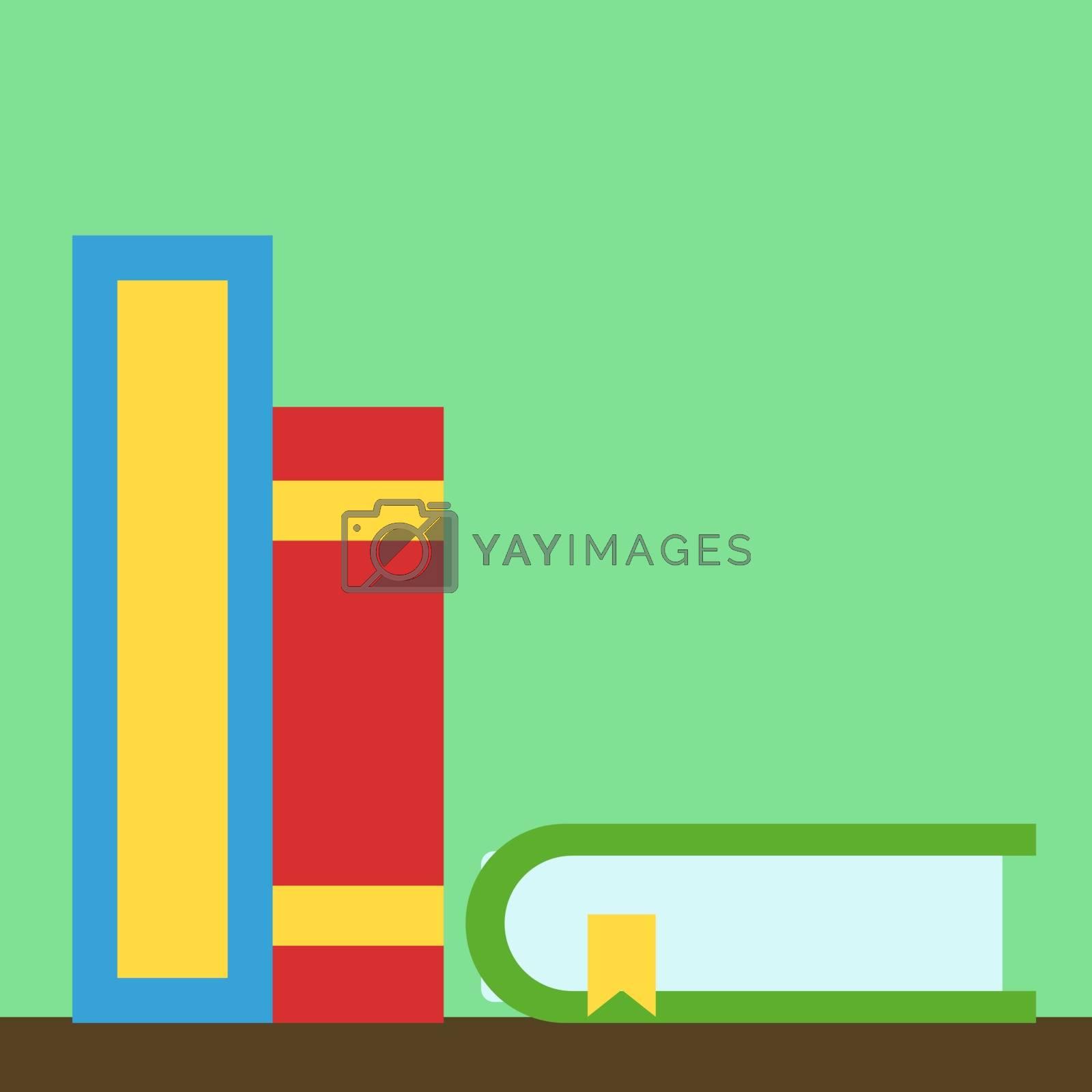Books, illustration, vector on white background.