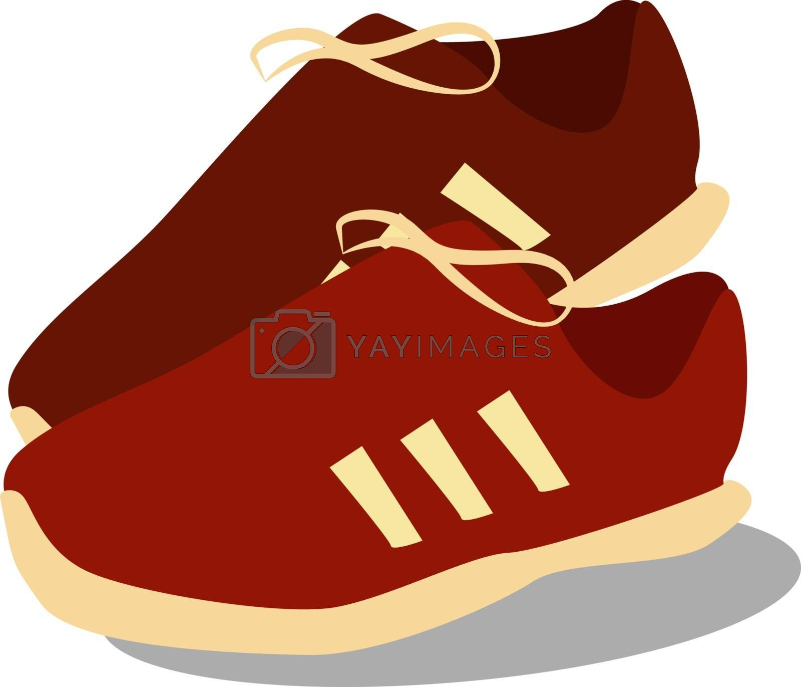 Red boots, illustration, vector on white background.