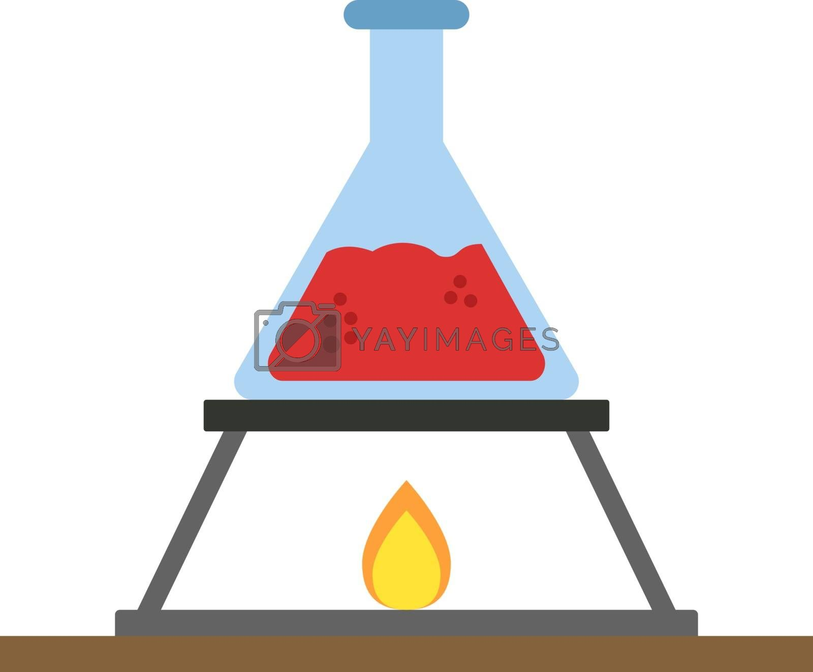 Chemistry, illustration, vector on white background.