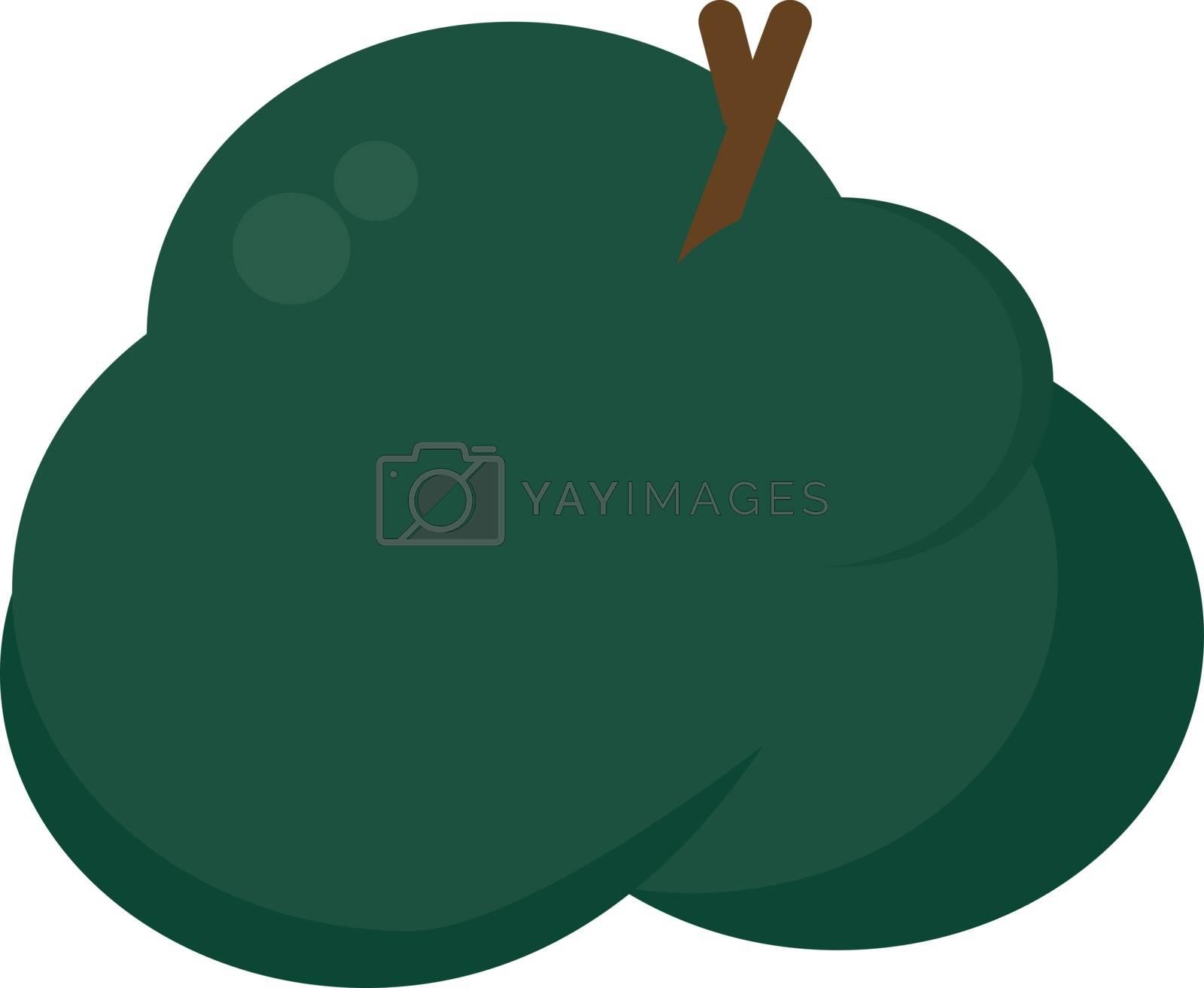 Green bush, illustration, vector on white background.