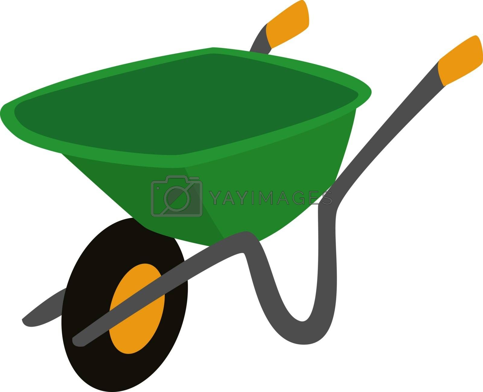 Construction trolley, illustration, vector on white background.