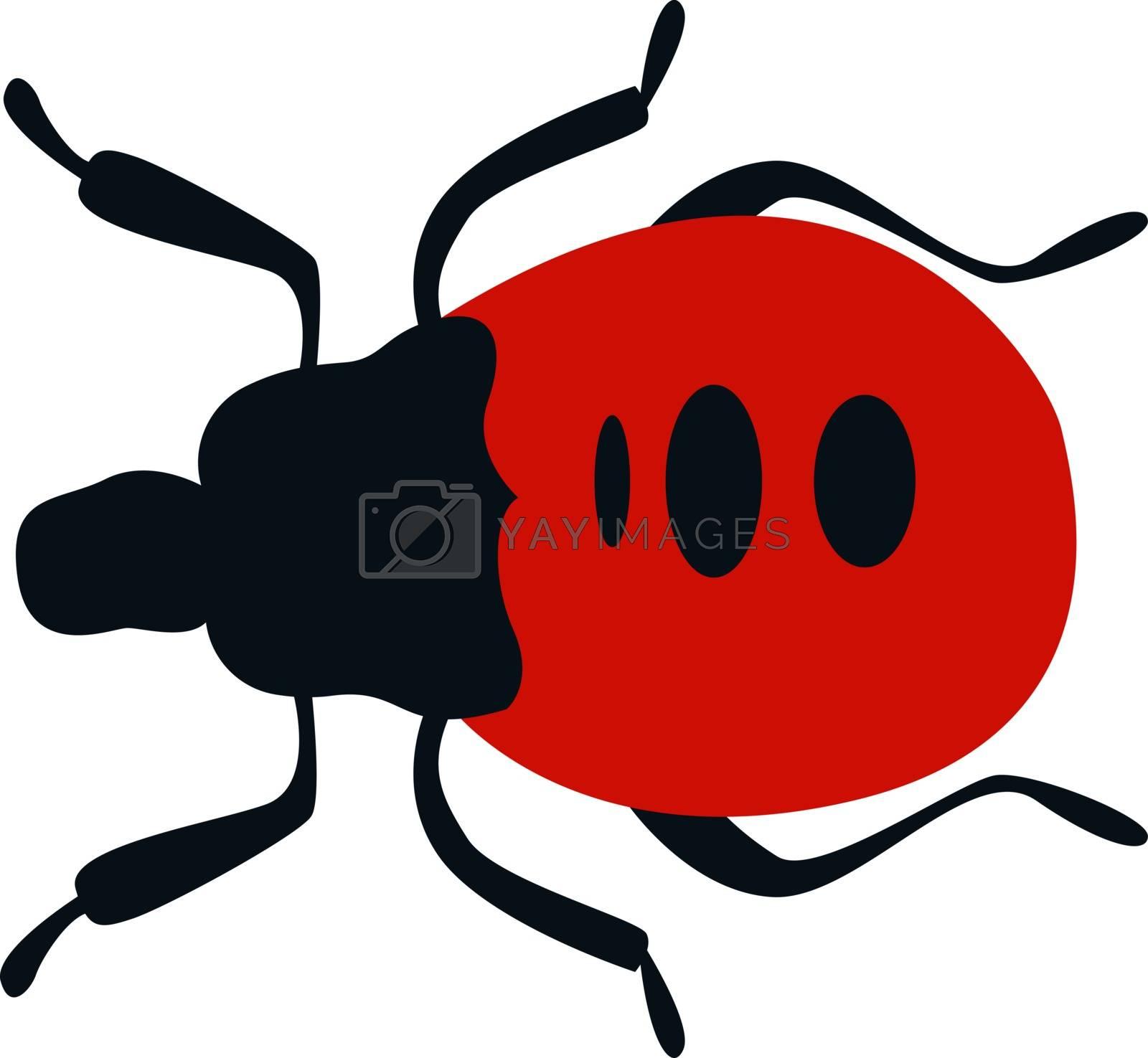 Stink bug, illustration, vector on white background.