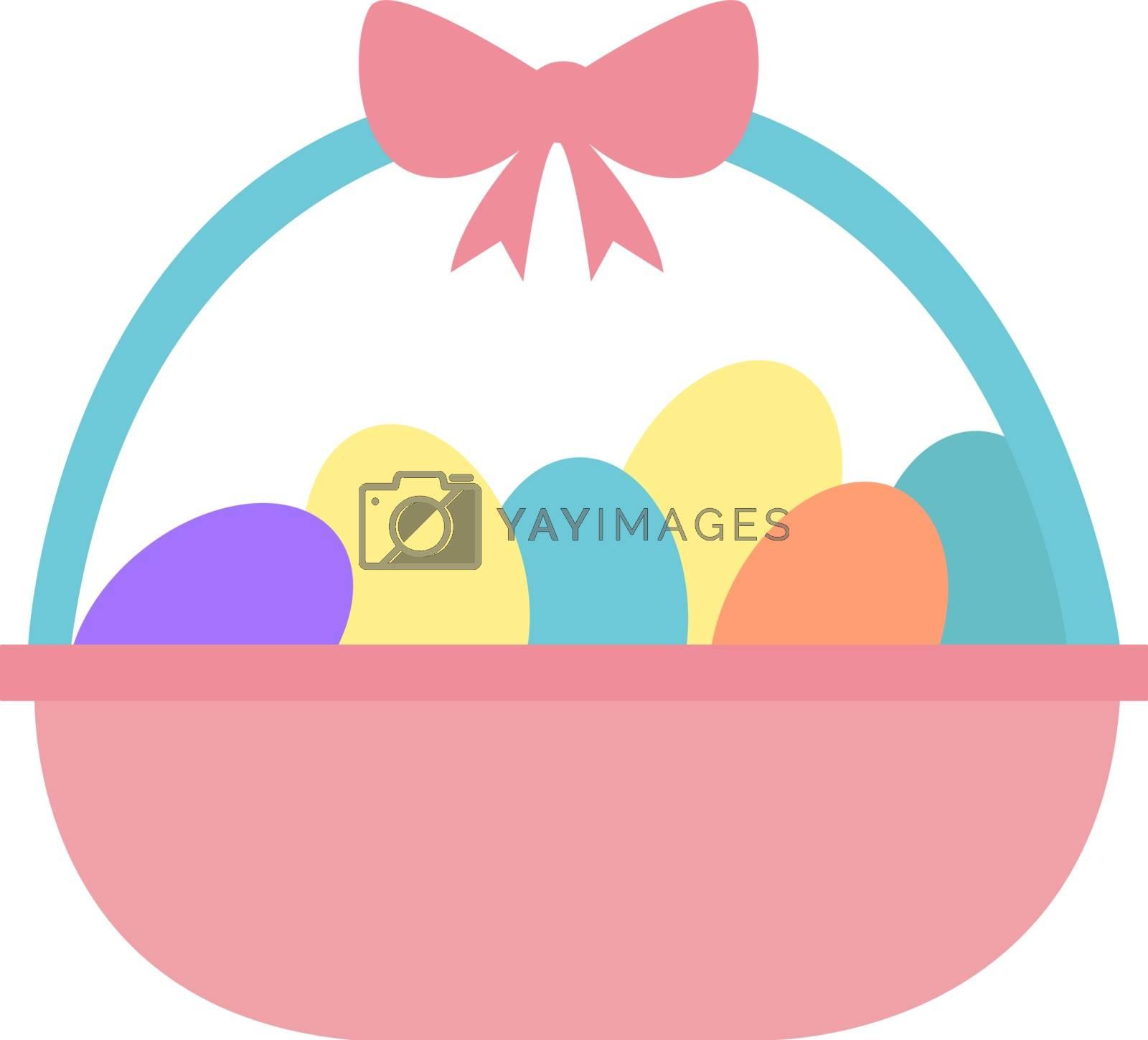Easter eggs, illustration, vector on white background.