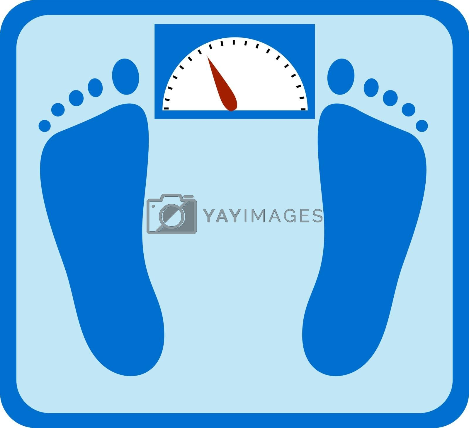 Floor scales, illustration, vector on white background.