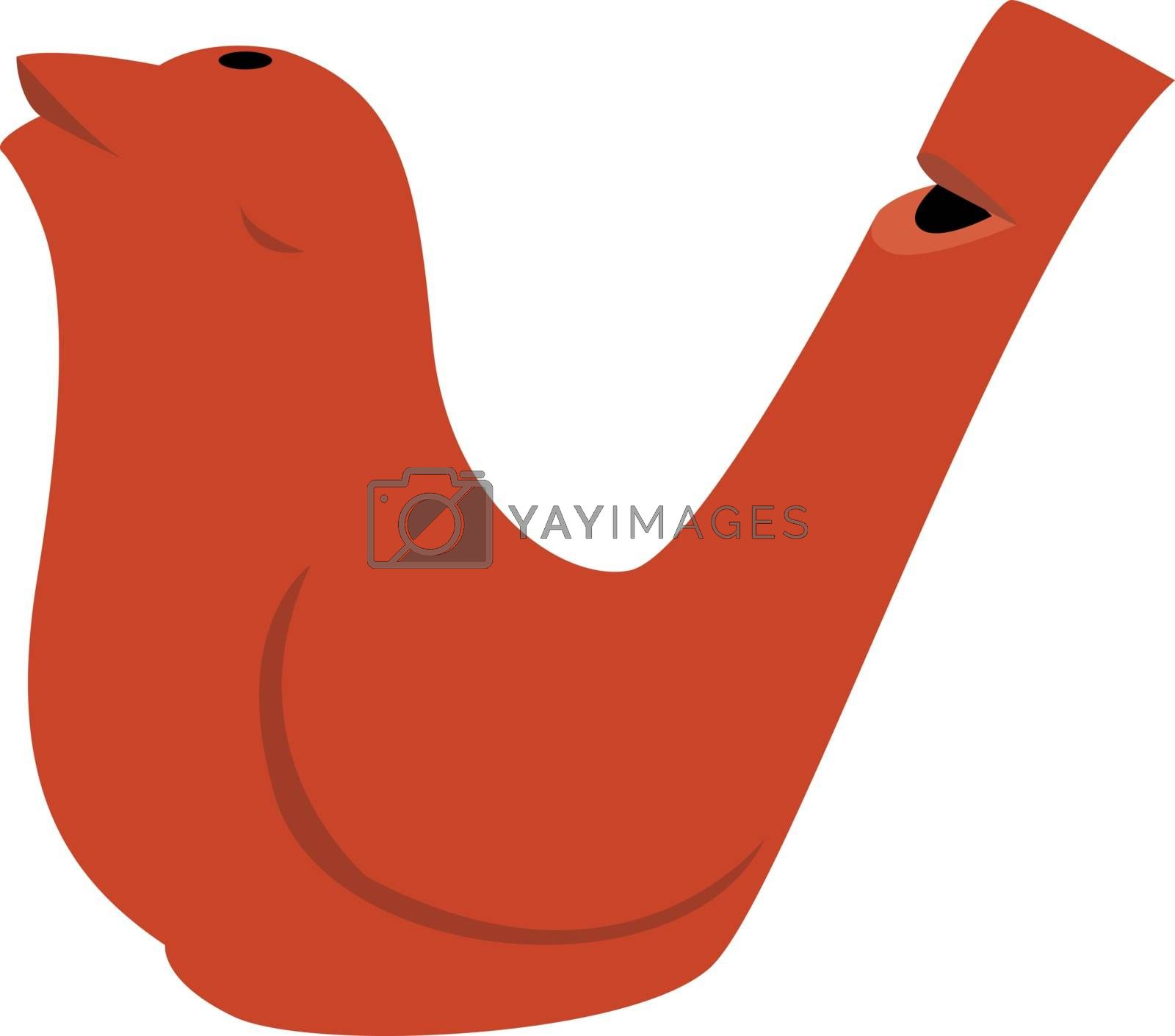 Bird whistle, illustration, vector on white background.
