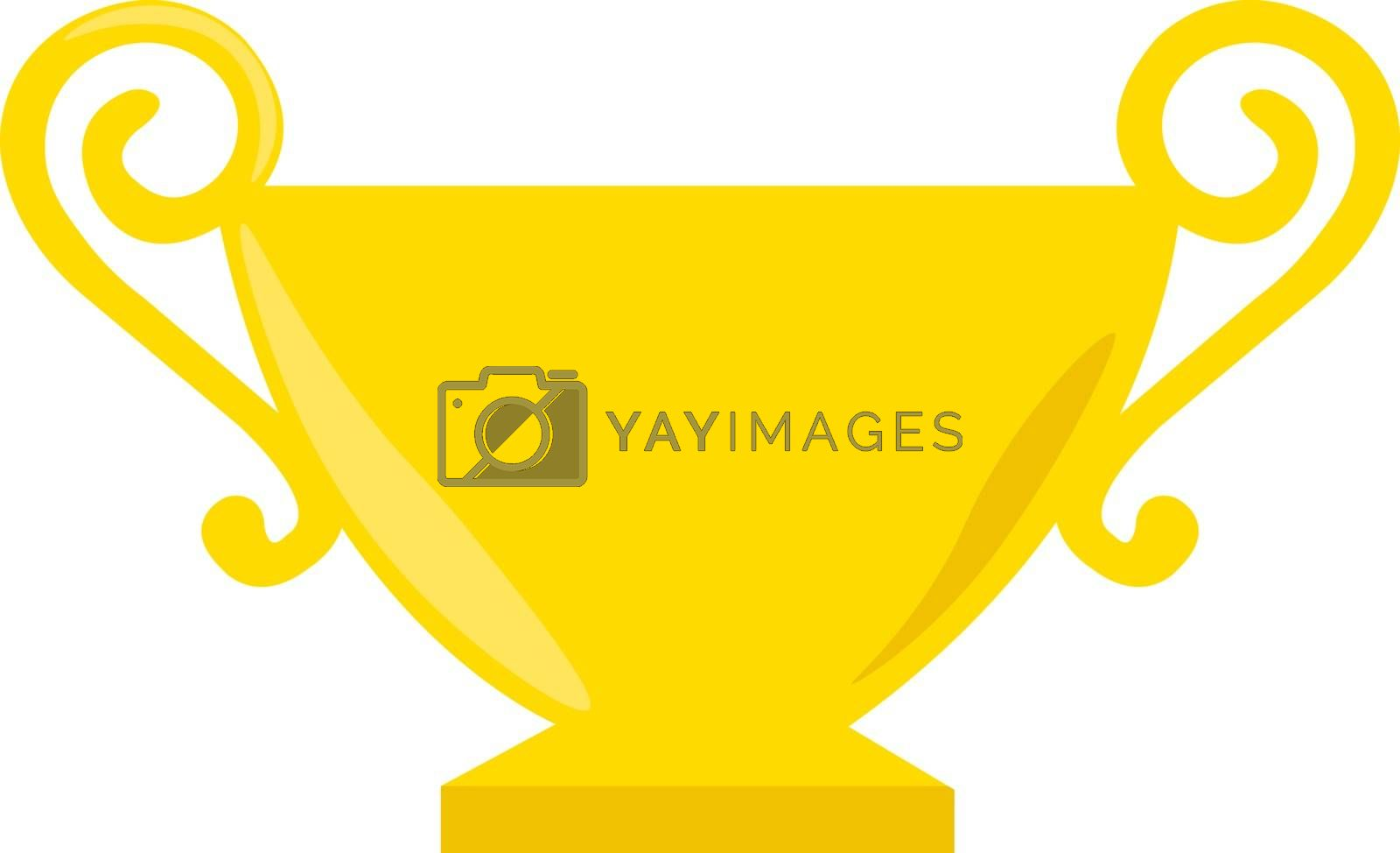 Golden cup, illustration, vector on white background. by Morphart