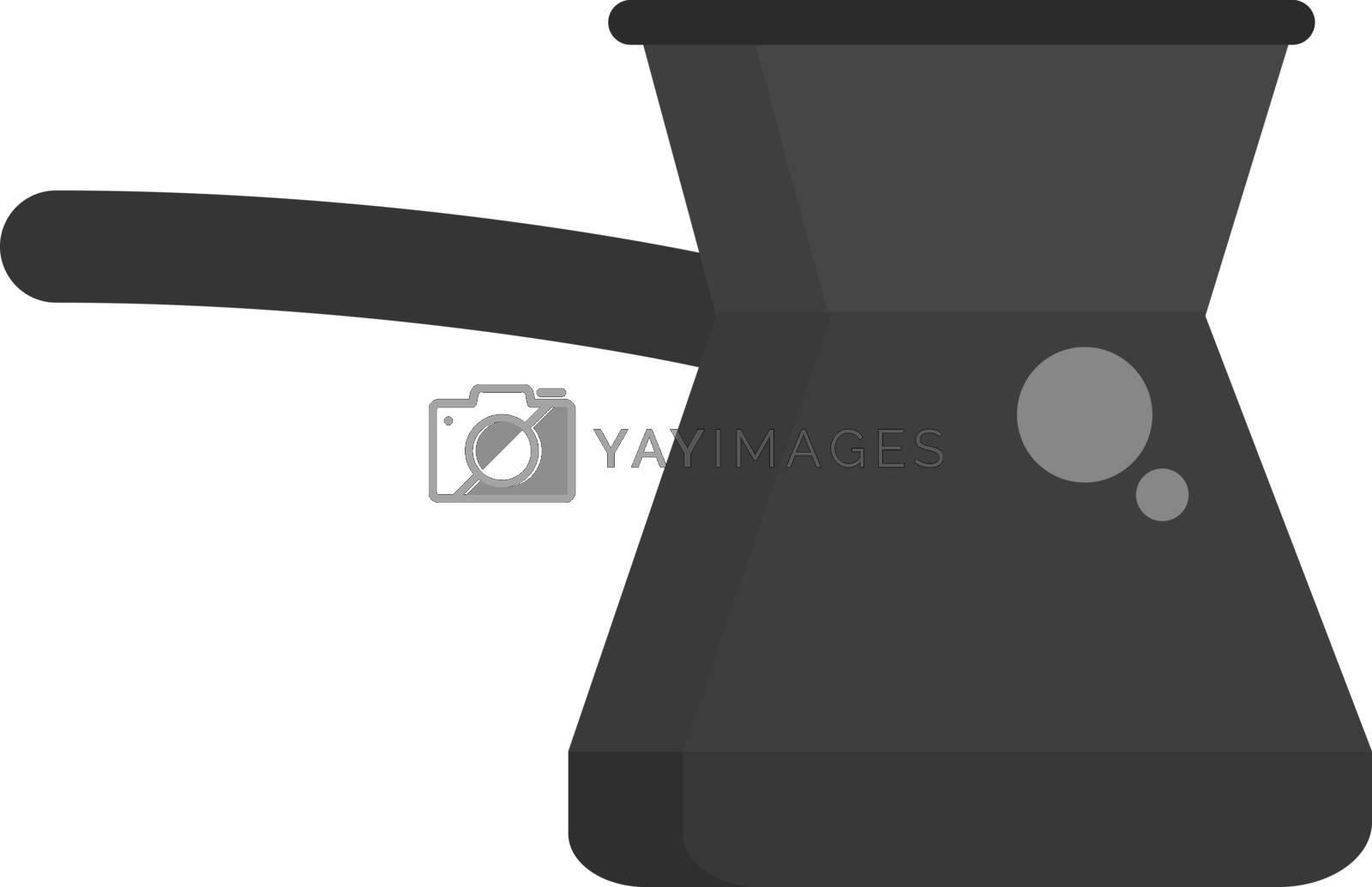 Cezve, illustration, vector on white background.