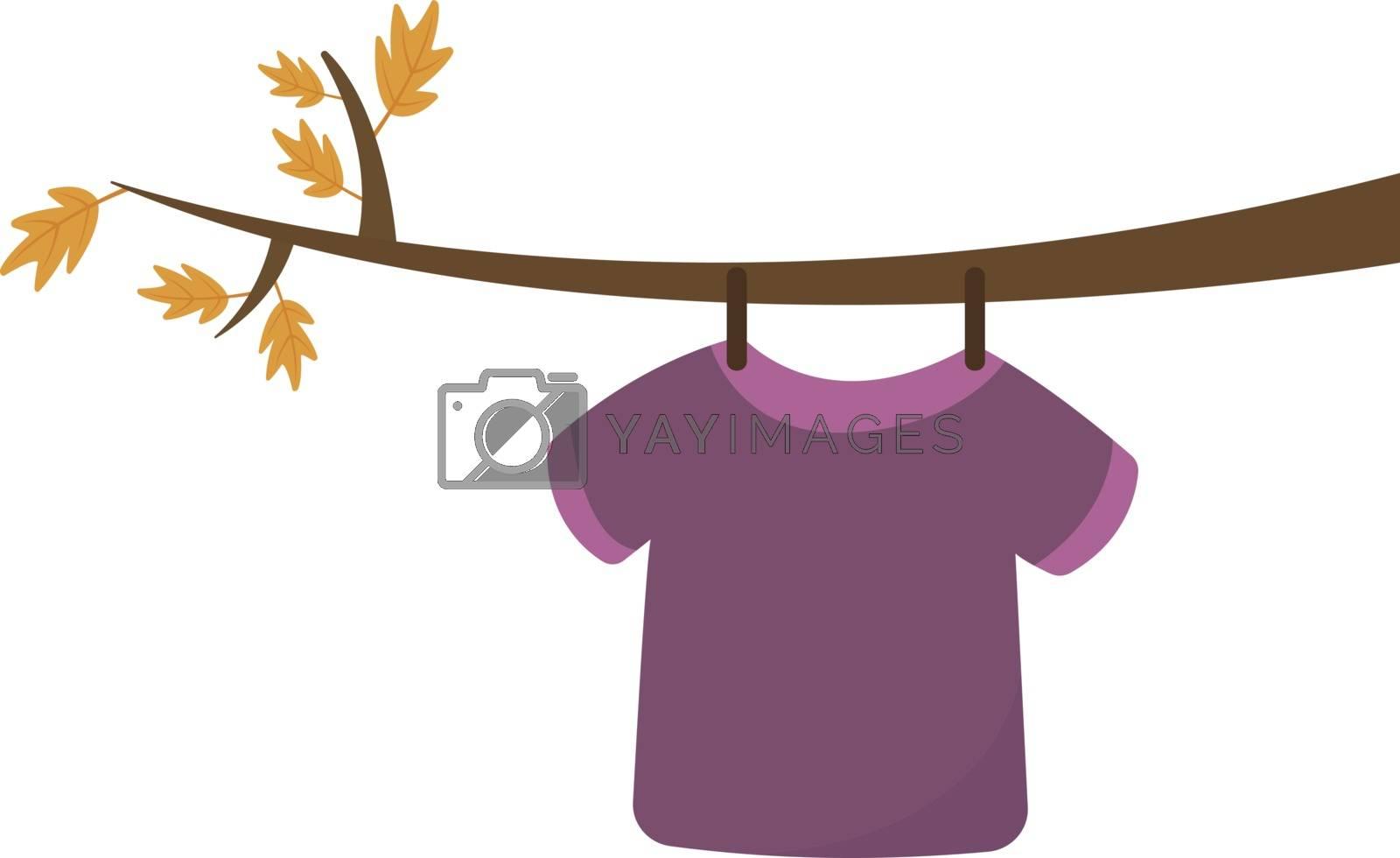Pink shirt, illustration, vector on white background.