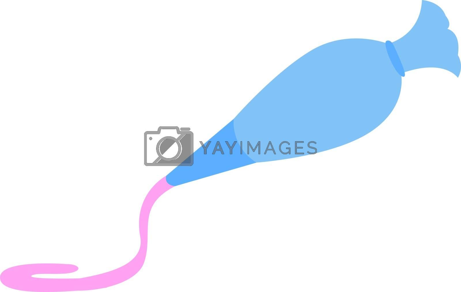 Cream for cake, illustration, vector on white background.