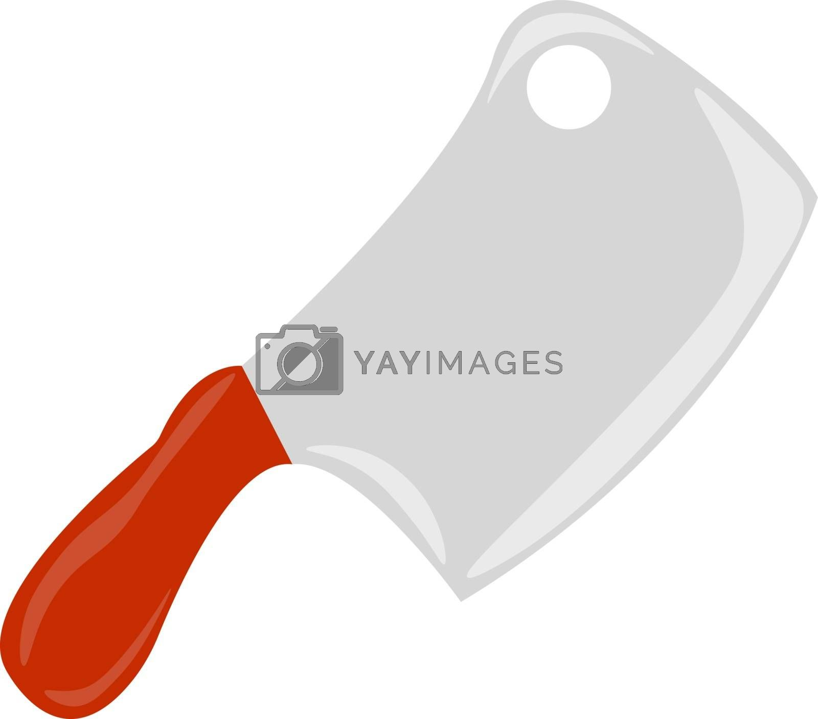 Kitchen knife, illustration, vector on white background.