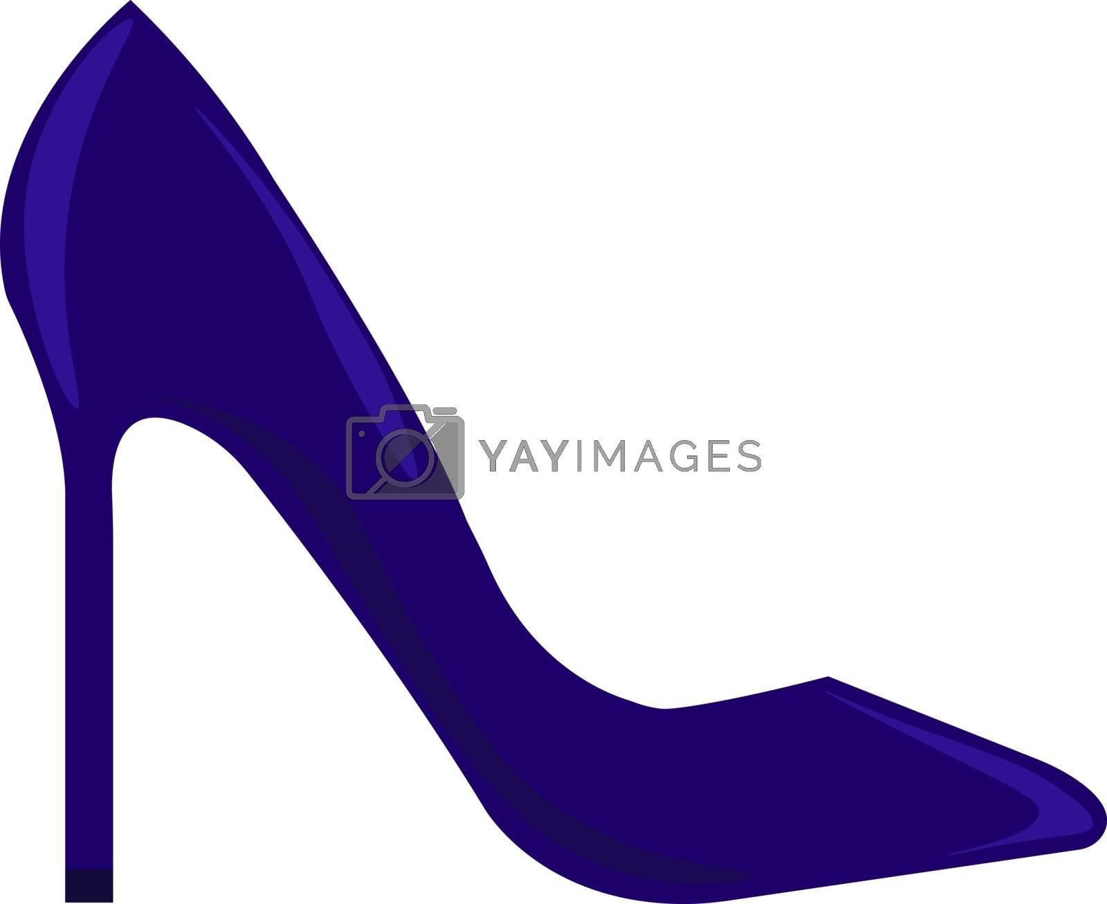 Blue shoe, illustration, vector on white background.