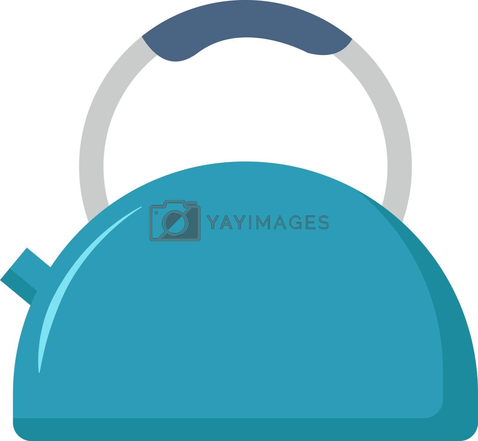 Old kettle, illustration, vector on white background.