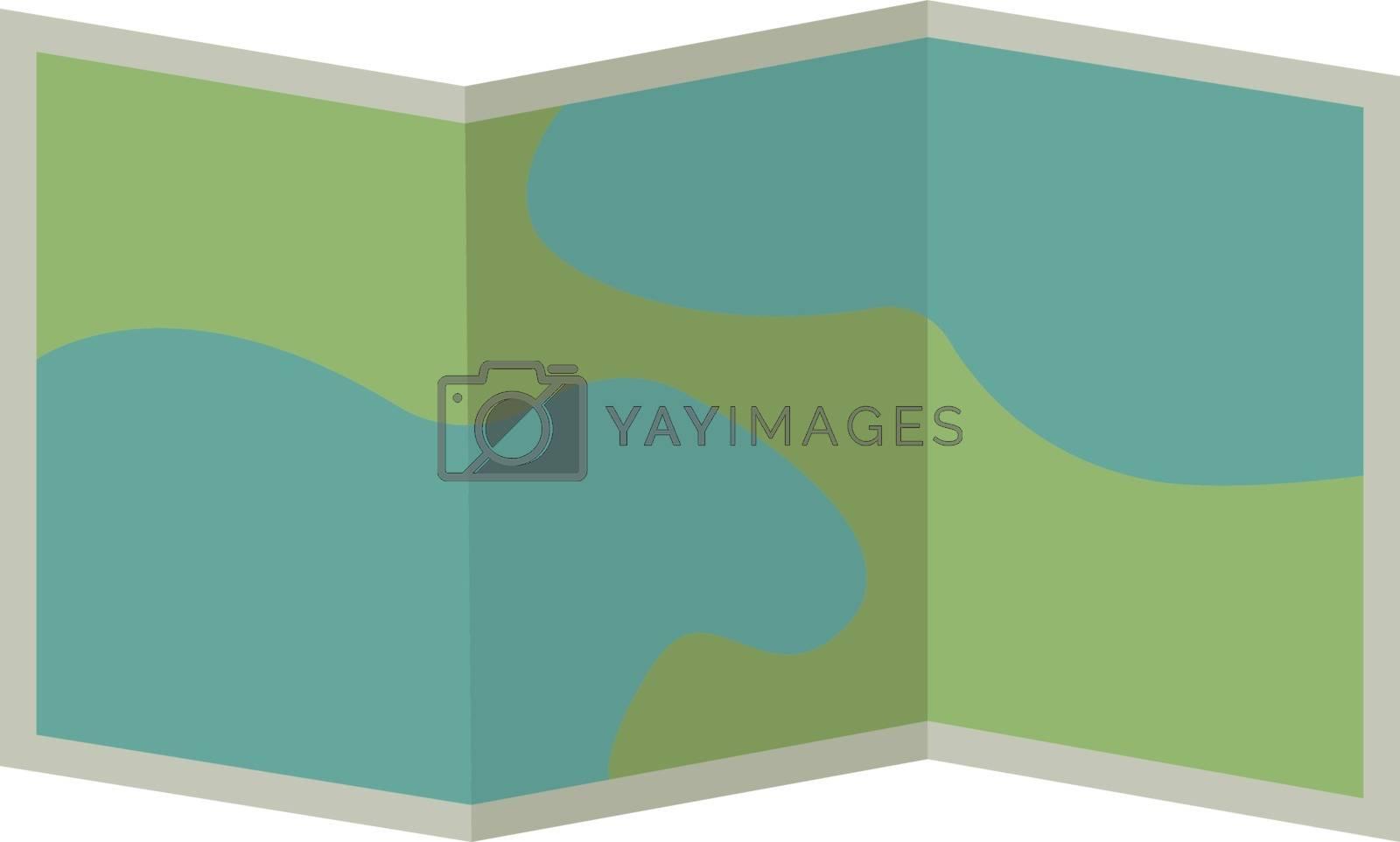 Map, illustration, vector on white background. by Morphart