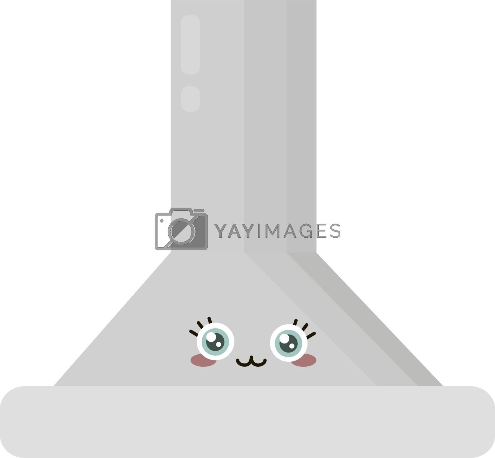 Kitchen hoods, illustration, vector on white background.