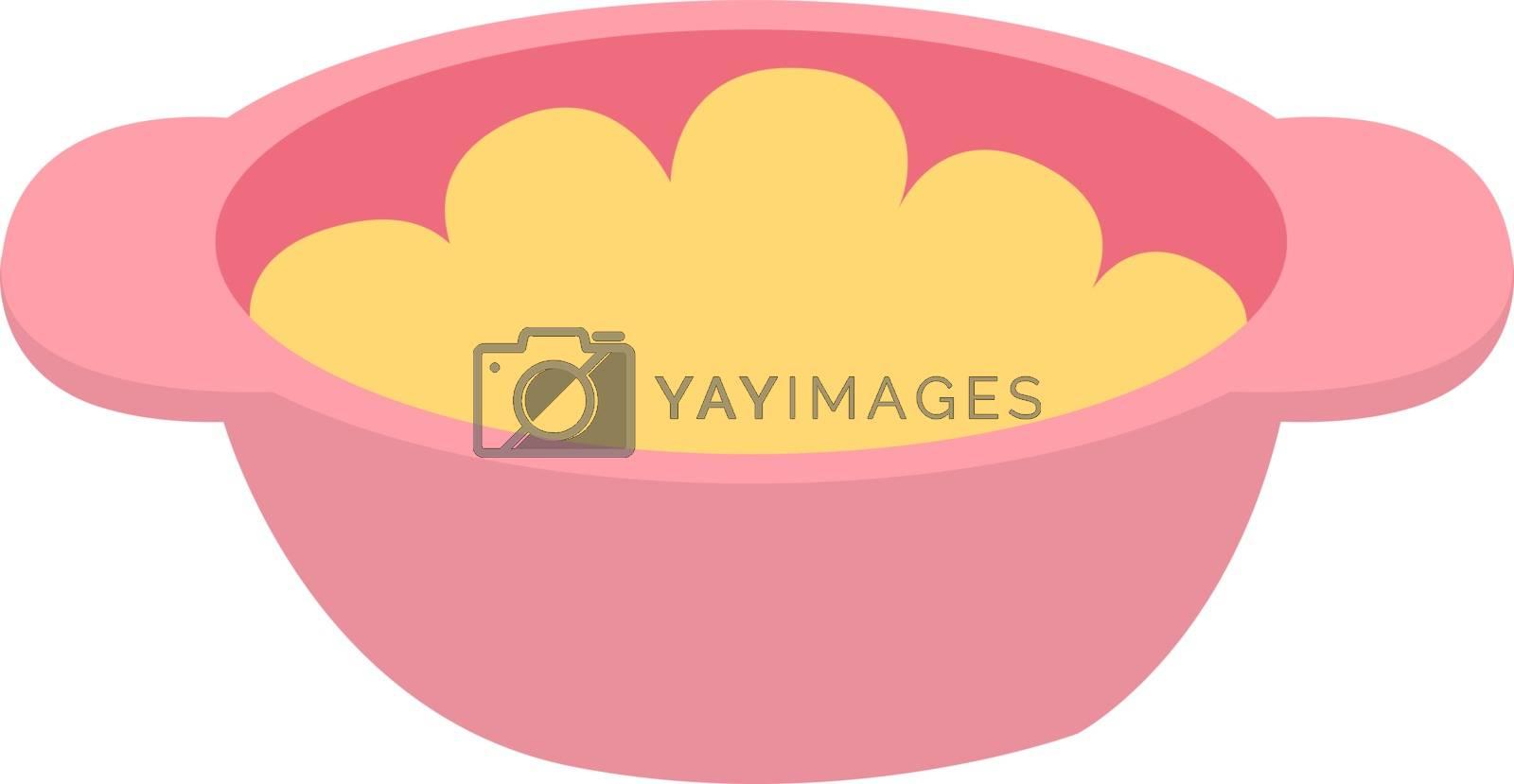 Porridge, illustration, vector on white background.