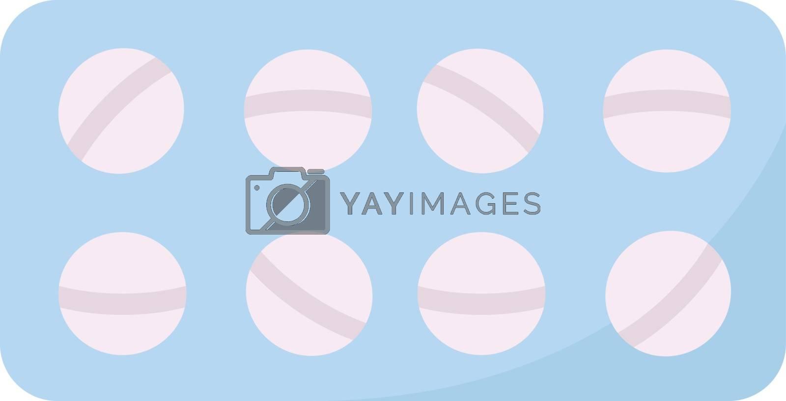 Medicine pills, illustration, vector on white background.