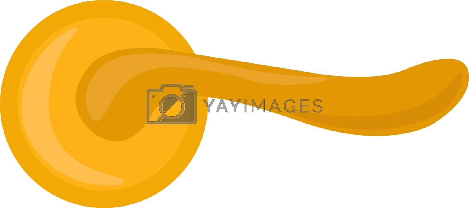 Golden handle, illustration, vector on white background.