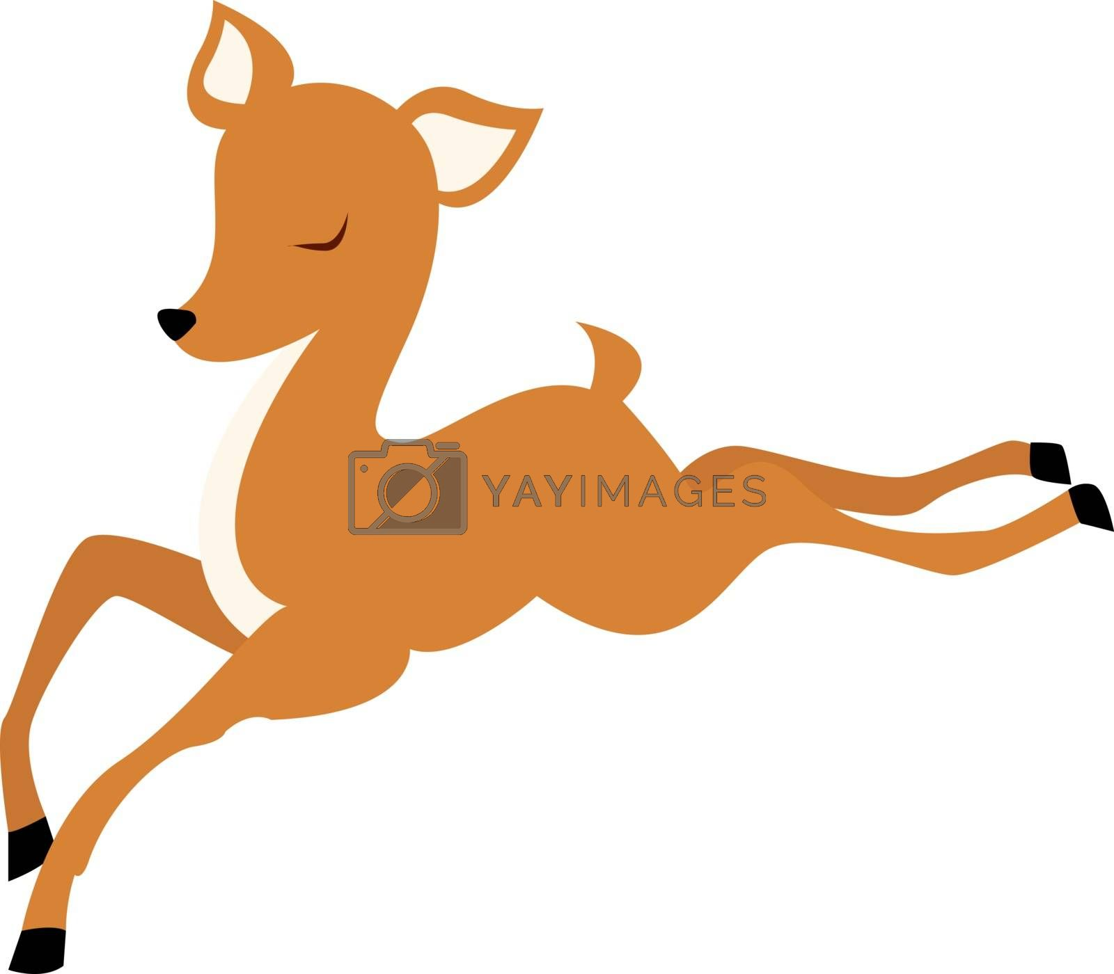 Baby deer, illustration, vector on white background.