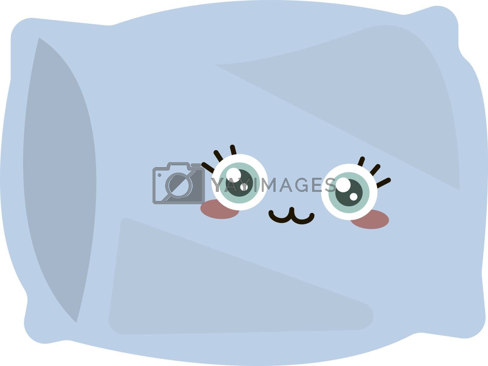 Cute pillow, illustration, vector on white background.