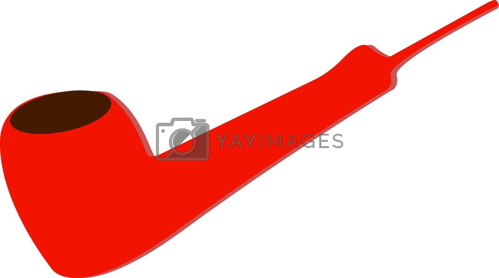 Red pipe, illustration, vector on white background.