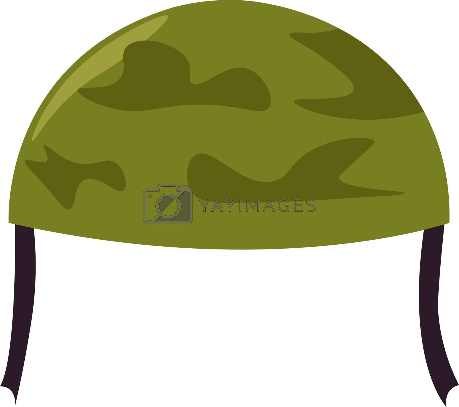 Soldier hat, illustration, vector on white background. by Morphart